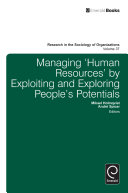 Managing 'Human Resources' by Exploiting and Exploring People's Potentials [Pdf/ePub] eBook
