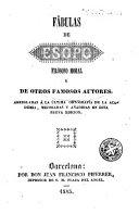 Fábulas de Esopo filósofo moral y de otros famosos autores