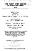 Water Pollution Control Legislation