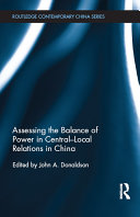 Assessing the Balance of Power in Central Local Relations in China