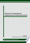 Advanced Computational Engineering And Experimenting Iii Book PDF