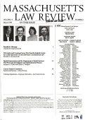 Massachusetts Law Review