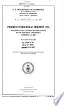 Progress in Biological Inquiries, 1928