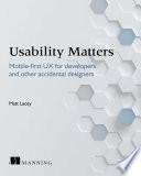 Usability Matters Book