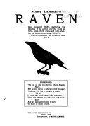 Mary Lambert s Raven Takes Periodical Flights Scattering the Thoughts of Its Author Over the World in Verse  Essay  Story  Drama and Song  Obeying the Injuction of Kings 111 xvii  I Have Commanded the Ravens to Feed Thee