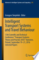 Intelligent Transport Systems And Travel Behaviour Book PDF