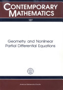 Geometry and Nonlinear Partial Differential Equations