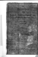The Proceedings of the Scottish Anthropological and Folklore Society