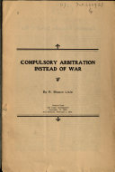 Compulsory Arbitration Instead Of War