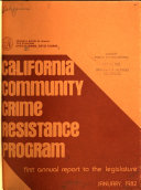 California Community Crime Resistance Program