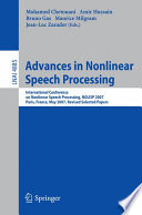 Advances in Nonlinear Speech Processing