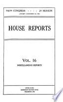 Congressional Serial Set Book