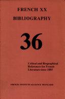 French Twentieth Bibliography