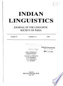 Indian Linguistics