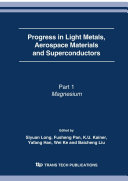 Progress in Light Metals, Aerospace Materials and Superconductors [Pdf/ePub] eBook