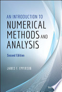 An Introduction to Numerical Methods and Analysis Book