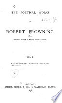 The Poetical Works of Robert Browning  Pauline  Paracelsus  Strafford
