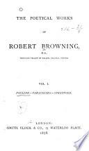The Poetical Works of Robert Browning  Pauline  Paracelsus  Strafford
