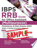 Free Sample  IBPS RRB Guide for Office Assistant  Multipurpose  Preliminary   Main Exams 2020 with 4 Online Practice Sets 6th Edition