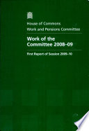 Work Of The Committee 2008 09
