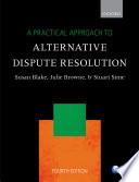 A Practical Approach To Alternative Dispute Resolution Book PDF