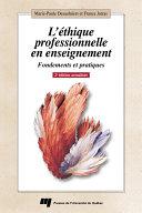 Pdf L'éthique professionnelle en enseignement, 2e édition actualisée Telecharger