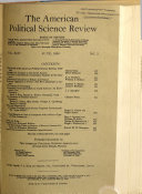 The American Political Science Review