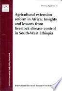 Agricultural Extension Reform in Africa