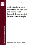Pdf Agricultural Extension Reform in Africa