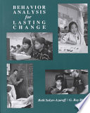 Behavior Analysis for Lasting Change