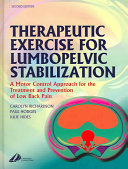 Therapeutic Exercise for Lumbopelvic Stabilization Book