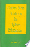 Centre-state Relations in Higher Education with Reference to Andhra Pradesh