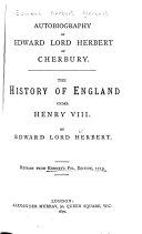 Autobiography of Edward Lord Herbert of Cherbury