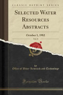Selected Water Resources Abstracts  Vol  15
