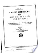 Sailing Directions For The Red Sea And Gulf Of Aden