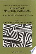 Physics Of Magnetic Materials   Proceedings Of The 4th International Conference