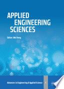 Applied Engineering Sciences