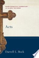 Acts Baker Exegetical Commentary On The New Testament