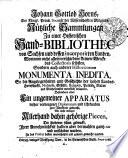 Johann Gottlob Horns, der königl. Preuß. Societät der Wissenschafften Mitglieds