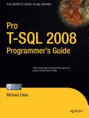 Pro T SQL 2008 Programmer s Guide