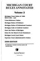 Pdf Michigan Court Rules Annotated