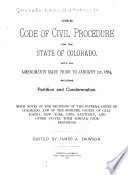 The Code of Civil Procedure for the State of Colorado