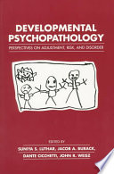 """Developmental Psychopathology: Perspectives on Adjustment, Risk, and Disorder"" by Suniya S. Luthar, Luthar et al, Jacob A. Burack, John R. Weisz, Dante Cicchetti, Professor of School/Applied Developmental Psychology and Director of the McGill Youth Study Team Jacob A Burack, Donald J. Cohen, Professor of Child Psychiatry Pediatrics and Psychology and Director Child Study Center Donald J Cohen, M D"