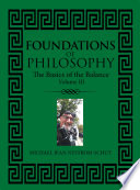 Foundations of Philosophy