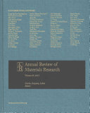 Annual Review of Materials Research 2015 Book