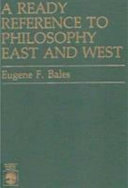A Ready Reference to Philosophy East and West