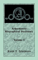 Ackerman N Biographical Dictionary