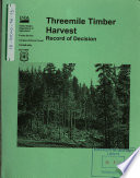 Tongass National Forest  N F    Threemile Timber Harvest Book