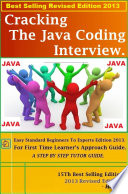 Cracking The Java Coding Interview Hand Book 2014 Book PDF