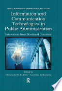 Information And Communication Technologies In Public Administration